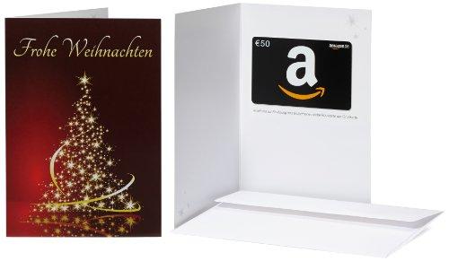 Amazon.de Geschenkkarte in Grußkarte - 50 EUR (Eleganter Weihnachtsbaum)