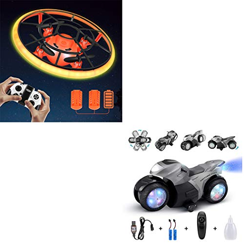 Combination Package,Mini Drone for Kids(Orange),RC Motorcyle for Kids(Grey)