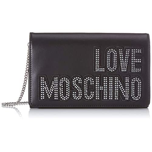 Love Moschino Jc4091pp1a, Borsa a Mano Donna, Argento (Argento Nero), 6x14x22 cm (W x H x L)