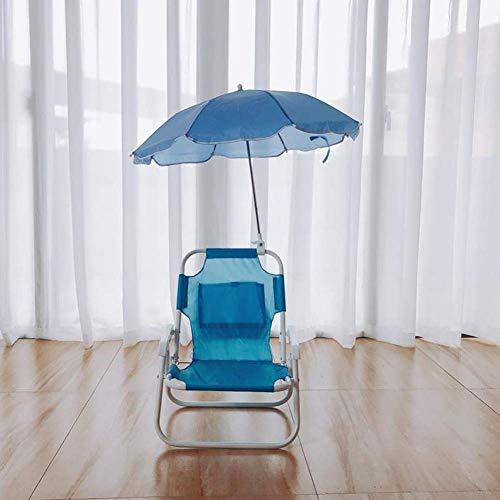 Dalovy Gartenliege Bequemer Kindergartenstuhl Und Sonnenschirm-Kindermöbel Langlebiges Design für Outdoor, Blau