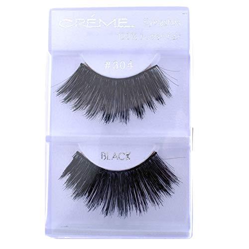 6 Pairs Crème 100% Human Hair Natural False Eyelash Extensions #304