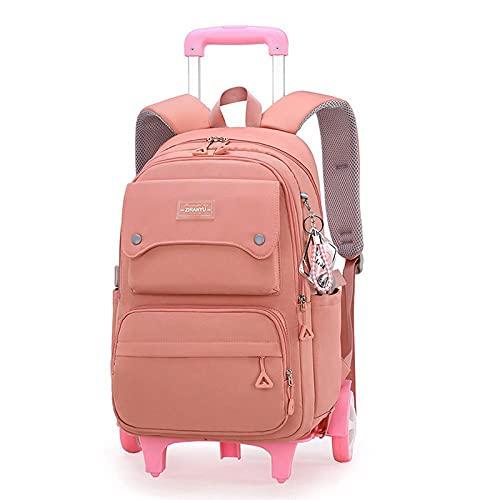JKHN Trolley borsa per la scuola, grande capacità, zaino casual multifunzione, per bambini dai 6 ai 12 anni, arancione