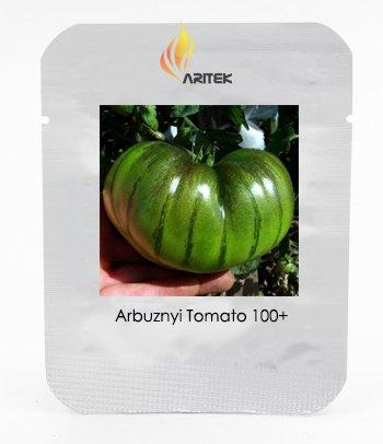 Rare Heirloom Arbuznyi Big Green Tomato avec Seeds Ligne Vert foncé organiques, Paquet professionnel, 100 graines / Pack, légumes doux