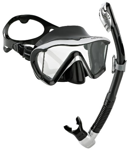 Head by Mares Scuba Snorkeling Dive Mask Dry Snorkel Set