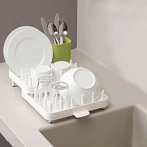 B & Y Ajustable de cocina Vajilla, platos y Baby Bottle rack de secado