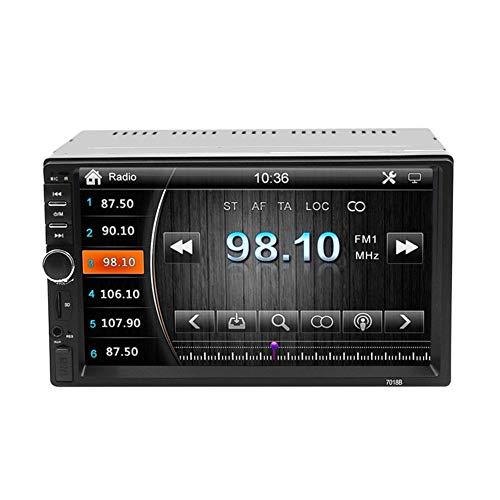 WXJWPZ Monitor Multimedia Cámara de 7 Pulgadas Radio 2 DIN Espejo táctil Pantalla HD Reproductor de navegación USB Soporte de música Coche MP5 Bluetooth FM TF