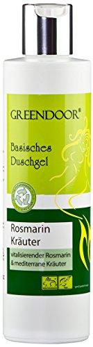 Greendoor Basisches Duschgel Rosmarin 250ml, 4,2 Sterne, biologisch abbaubar, Natur für Ihre Haut aus der Naturkosmetik Manufaktur, ohne Silikone Sulfate Konservierungsmittel Parabene = parabenfrei