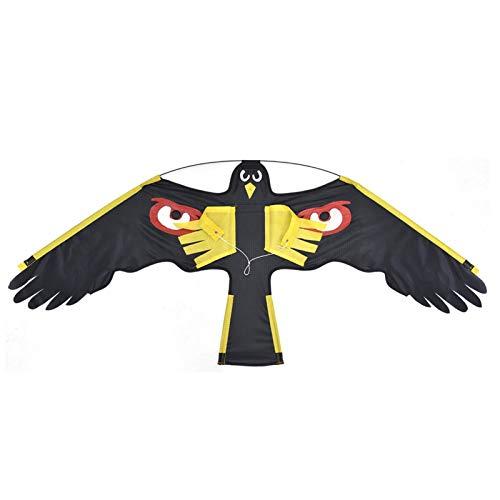 YUTEN Flying Hawk Kite Dispositivos repelentes de pájaros Reflectante para jardinería Bird Eagle Kite emulación de Repelente de pájaros Flying Drive Kite para Garden Yard Farm Flat Hawk Best Service