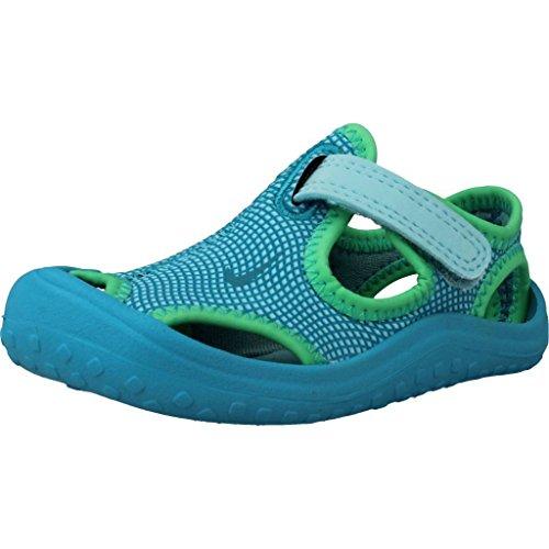 Nike Unisex Baby Sunray Protect (td) Durchgängies Plateau Sandalen, Blau (Still Blue/Chlorine Blue/Electro Green 400), 18.5 EU