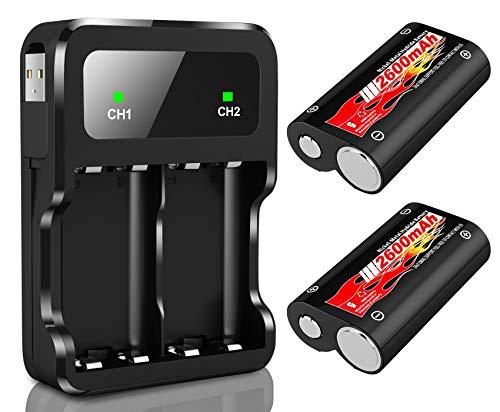 Batteria Controller Xbox One, 2600mAh Batteria Ricaricabile per Xbox One, Serie S, Serie X, Elite, Batteria 2 Caricabatterie 1 con Cavo di Ricarica