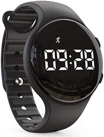synwee Kids Led Pedometer Watch Digital Steps Tracker Non Bluetooth Vibrating Alarm Clock Stopwatch product image
