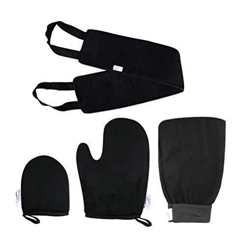 Minkissy 1 Set Bade Luffa Schwamm Haut Entferner Handschuh Rücken Peeling Scrubber für Bad Dusche Körperpad mit Rücken Gurt