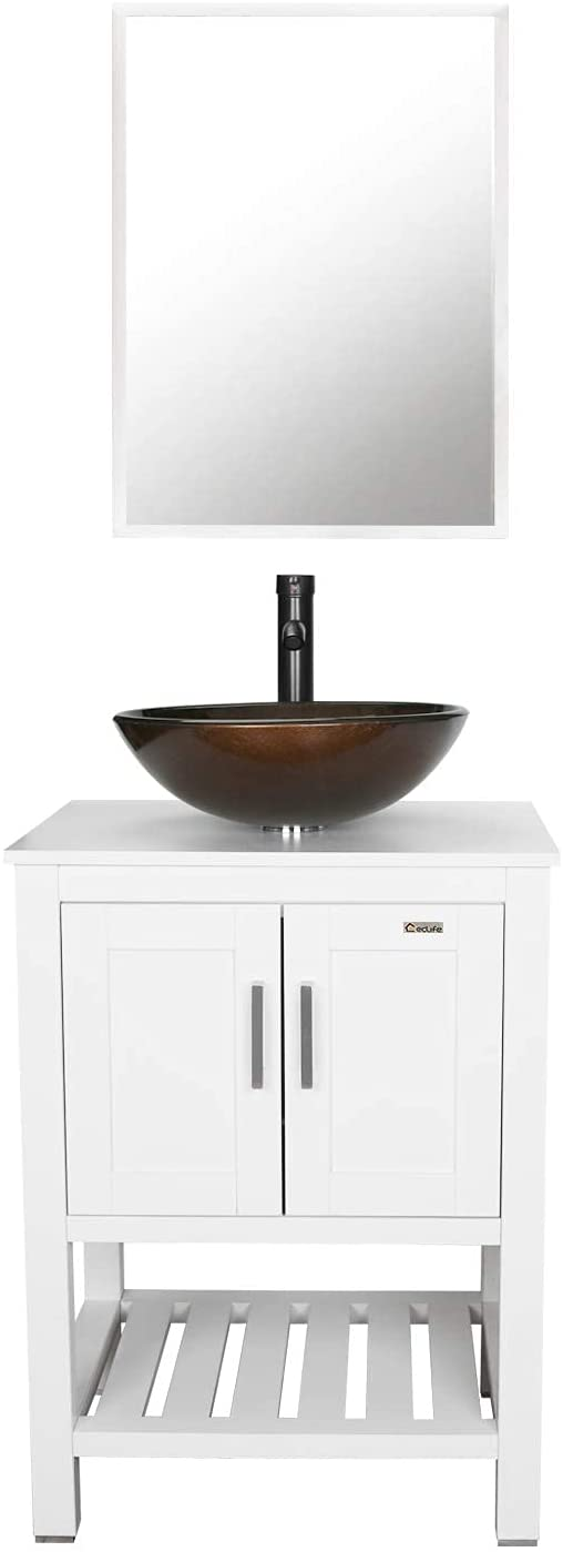 """outlet eclife 24"""" Bathroom Vanity Sink T Cabinet Ranking TOP16 White Combo Round"""