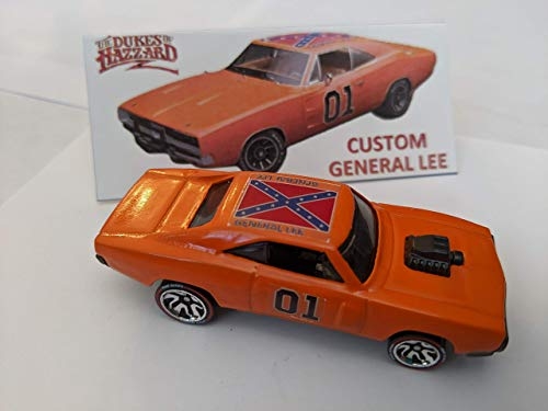 Custom Hot Wheels Dukes of Hazzard General Lee 1970 Dodge Charger R/T HW ID