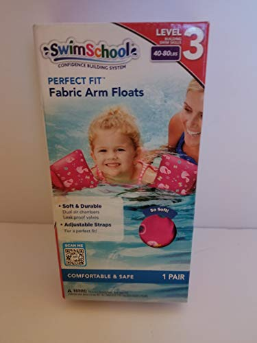 SwimSchool Fabric Arm Floats Level 3, 40-80lbs,Duck Print