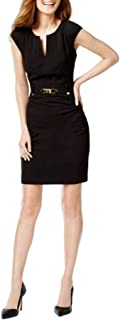 Women's Shift Dress with Gold-Tone Hardware