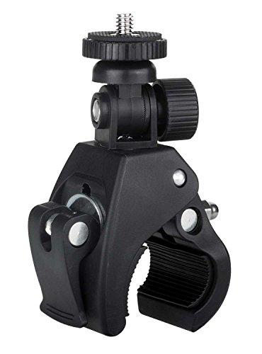 yayago Fahrrad Rohrklemme (Rohrdurchmesser von ca. 1,5cm - ca. 3,6cm) Halterung für Sony FDR-X1000V