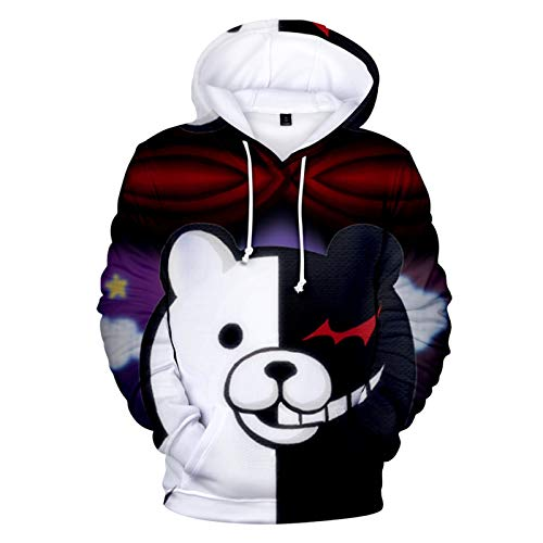 CYANDJ-Black and White Bear-Unisex Sweater 3D Hoodie Long Sleeve Casual Breathable Pullover Boy Sweatshirt Coat Jacket-05/XXL