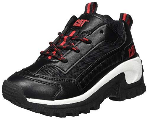 Cat Footwear Intruder, Zapatillas Unisex Niños, Negro (Black/Red), 36 EU