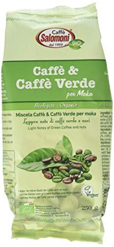 Salomoni Caffe  Verde Biologico per Moka - 6 Confezioni da 250 ml
