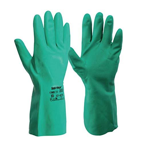 ANSELL Guante para productos químicos Sol-Vex 37-675 Gr.8 verde EN 388,EN 374,EN 1149 Cat.III ANSELL