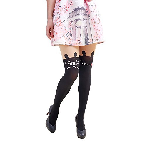 Bonamana Anime Sailor Moon Luna Katze Nette Enge Printing Socken Cosplay Kostüm Strumpfhosen , S, Totoro