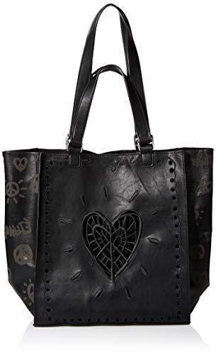 Desigual Damen BAG BEATS_COLORADO Umhängetasche, Negro, Einheitsgröße