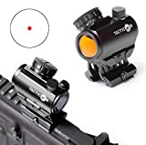 Predator V3 Micro Red Dot Sight | Combat Veteran Owned Company | 45 Degree Offset Mount and Riser Mount Included | Reflex Rifle Optic With 11 Adjustable Brightness Settings | Reddot Gun Scope