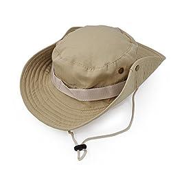 UltraKey Chapeau de Soleil à Large Bord Extérieur, Style d'armée de Combat Classique Jungle Chapeau de Soleil pour Pêche…