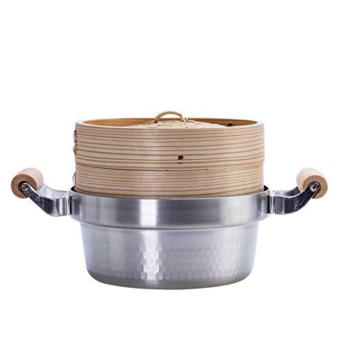 Vaporera, olla de doble uso, vaporera multifunción, olla de sopa, sartén antiadherente, gas, cocina de inducción