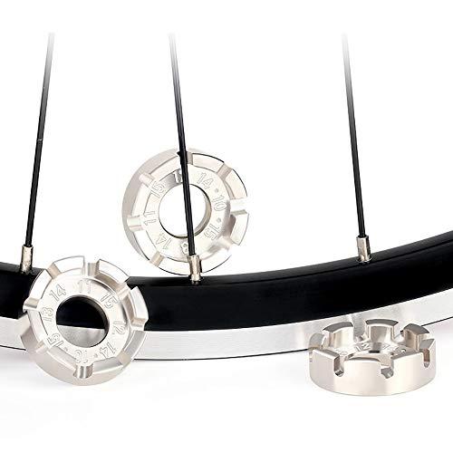 Llave de radios de bicicleta, corrección de centrado de rueda de llanta / placa de 8 vías / llave de ajuste de radios, adecuada para bicicletas de montaña, bicicletas infantiles, ciclomotores