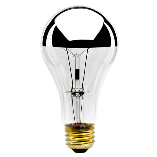 Bulbrite 100A21HM Half Chrome 100W A Shape Bulb - 2 Pack