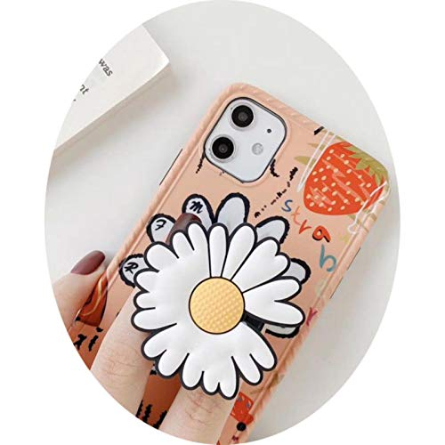 New 3D chrysanthemum handlestand heart strawberry photo frame silicone cover for iphone 11Pro MAX XS XR 7 8plus phone case,with stand,for iphone 11Pro