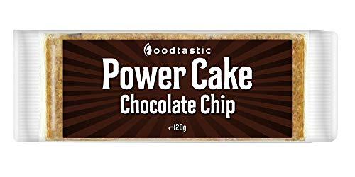 Foodtastic Power Cake Chocolate Chip (12 x 120g)   leckere, saftige Haferriegel   handgemachte Flapjack Energieriegel aus Haferflocken