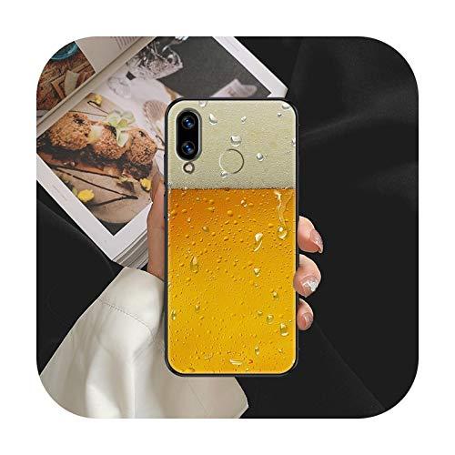 Beer Art Funda para Huawei Honor 6 7 8 9 10 10i 20 A C X Lite Pro Play Negro Tendencia Celular Cover Pretty Coque 3D Etui Fashion-9-Huawei Honor 7C