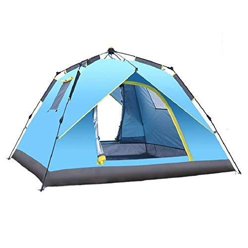 RYP Guo Outdoor Products Tentes d'extérieur, 3-4 Personnes, Tentes automatiques rotatives, Tentes de Camping Sun imperméables, Tentes de Voyage familiales,3-4 Personne,Orange