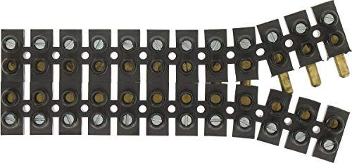 Legrand 098442 Borne de Raccordement à Broches Suprem, 10 mm², 25 A, Noir, Lot de 12