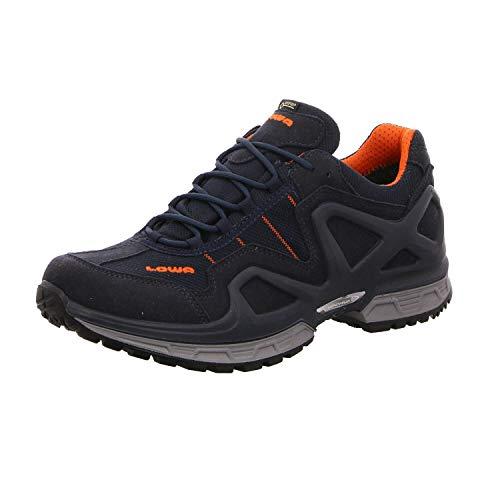 Lowa 310578 Gorgon GORE-TEX Membrane Herren Outdoorschuh aus Synthetikmesh, Groesse 42, dunkelblau/orange