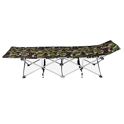 ShiSyan Cama plegable de tela espesa la cama de camping portátil con bolsa de transporte Tumbona for el camping Inicio Oficina de Visitantes cama (Color: Verde, tamaño: 190 * 67 * 35 cm) Sillas plegab