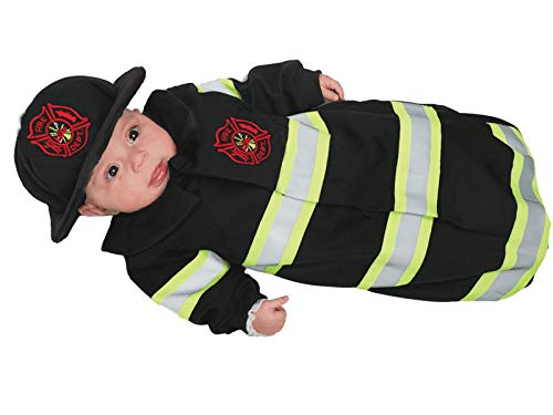 UNDERWRAPS Baby's Firefighter Fireman Costume Bunting for Dress Up and Halloween - Fireman Bunting Black