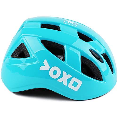 ERJQ fietshelm kinderen, scooter/skiën/fietsen/mountainbikehelm met pc-schaal, licht en ademend verstelbare riem beschikbaar voor 3-12 jaar oude jongens/meisjes