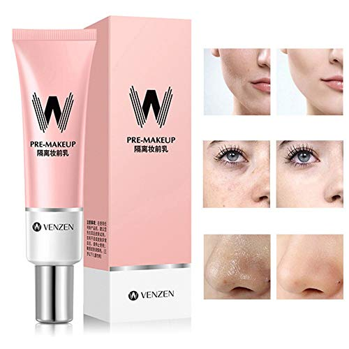 Pore Primer Face Makeup Primer Base Pink Isolation Cream Brighten Skin Colour Invisible Pore Cover...