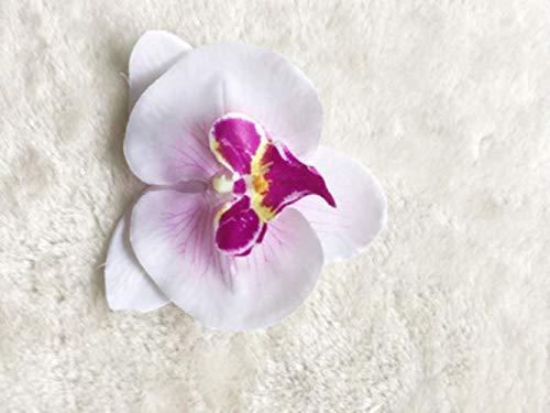 LLine Fleur Cheveux Accessoires pour Les Femmes Mariée Plage Rose Floral Cheveux Clips DIY Mariée Coiffure Broche De Mariage en Épingle À Cheveux, Blanc avec Violet