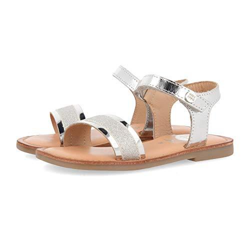 Sandalias plateadas para niña RIVALTA