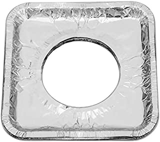 CROSYO 10pcs poêle à gaz réutilisable épaissir Clean Tapis Clef Cercle cuisinière à gaz cuisinière curée de Cuisson Couvre...