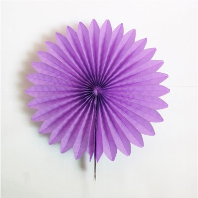 "Zorpia® 16""(40cm) Tissue Paper Fan Hanging Fan Tissue Paper Decorative Fan, Party Decorations for Weddings, Birthday Parties, Baby Showers and Nursery Decor Set of 6 ( Lavender)"