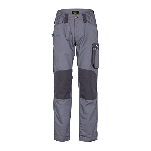 Diadora Rock Winter ISO 13688: 2013 - Pantalone da lavoro per uomo, Grigio Acciaio, L