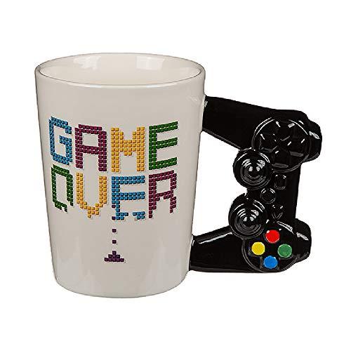 Haus und Deko Origineller Keramik-Becher Game Over Kaffeetasse Tasse mit Game Controller Griff