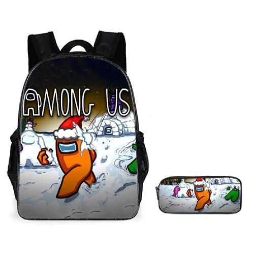 ZBK Juego de mochila escolar con estuche para estudiantes, niños, niñas, 9 colores
