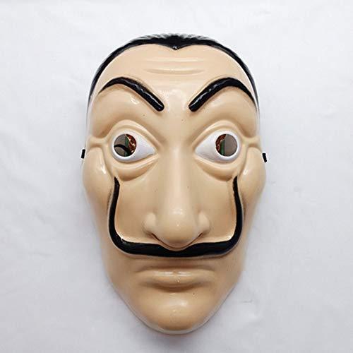 Haomingxing Salvador Dali La Casa De Papel Realistisch Masker, voor Feest/Cosplay/Decoratie/Bar/Halloween/Kerstmis